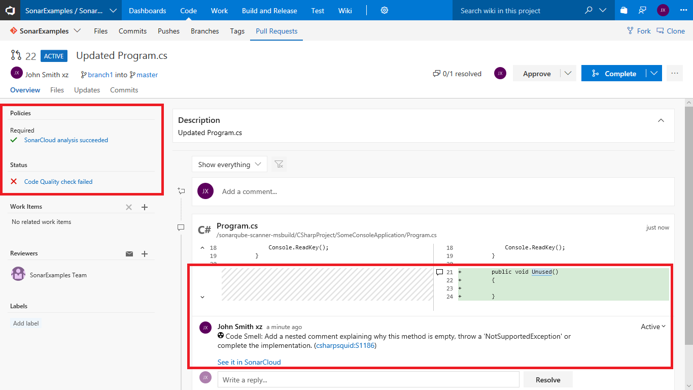 SonarSource Blog » Integrate SonarCloud with VSTS to boost